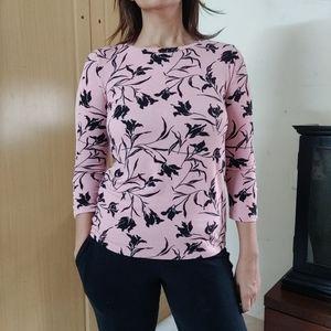 Van Heusen woman Pink top boat neck XS